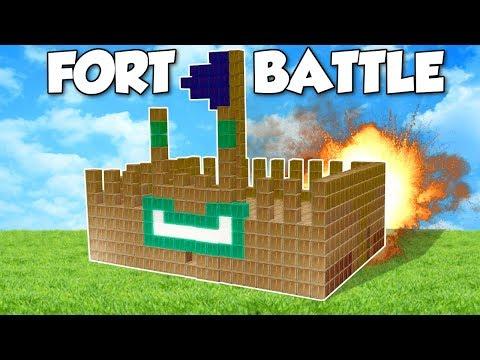 BOX FORT BATTLE?! - Garry's Mod Gameplay - Gmod Building a Box Fort Battle Challenge!