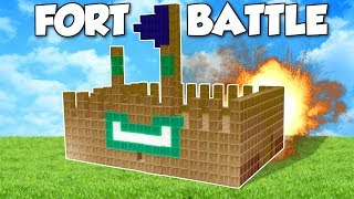 BOX FORT BATTLE?! - Garry