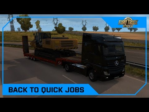 Drawyah plays Euro Trucks Simulator 2 - Back to the quick jobs|Episode 36