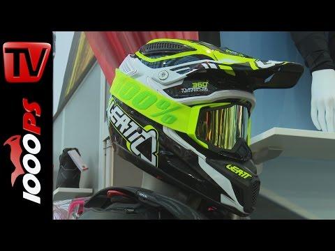 Leatt GPX Motorradhelm 360° Turbinen Technologie