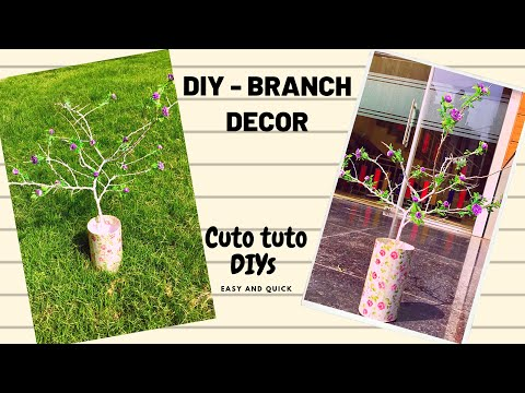 DIY - SUPER EASY BRANCH DECOR|  DIY PROJECT | ROOM DECOR IDEAS 💡