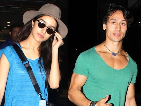 Shraddha Kapoor & Tiger Shroff at Airport After Promotions Of Baaghi - A Rebel For Love