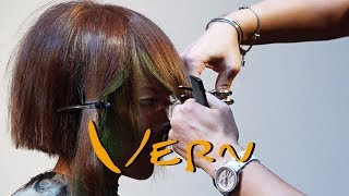 2 Girl Contrasting Bright Colored Hairstyles - Haircut Tutorial - Vern Hairstyles 35