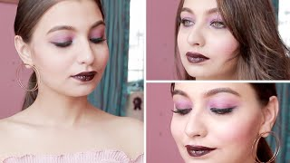 How to get Bombshell Make-up look ? | Burgundy  Smokey EYE |May - GRWM |Make up