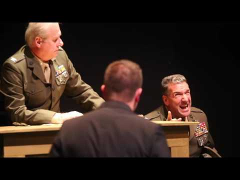 """Dennis LaValle as Col. Nathan R. Jessup in Aaron Sorkin's """"A Few Good Men"""""""
