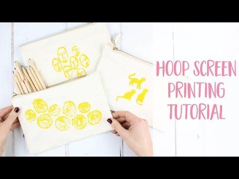 Hoop Screen Printing on Fabric How to DIY Tutorial | Craftiosity | Craft Kit Subscription Box