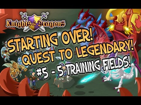Let's Play Knights and Dragons #5 - 5 Training Fields!   How to spend your gems!