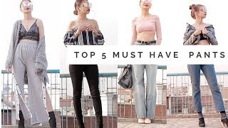 TOP 5 BOTTOMS MUST HAVE | Zara, Forever 21, H& M ,| Tejaswi
