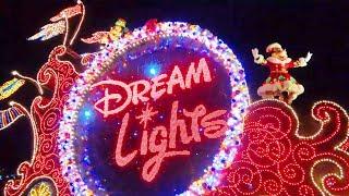 【4K】 TDL エレクトリカルパレード・ドリームライツ 2019/Electrical Parade Dreamlights 2019  ※クリスマスVer.【11/9 バケパ前パレル最前】