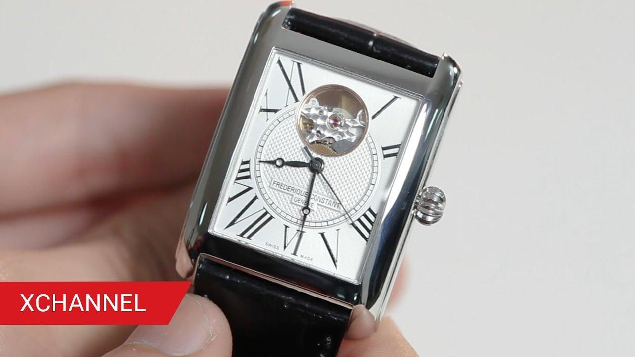 Trên tay đồng hồ Frederique Constant HEART BEAT FC-310MC4S36 mặt vuông cực sang trọng