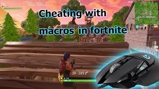 [Fortnite] Cheating with macros (crouch peeking cheats)
