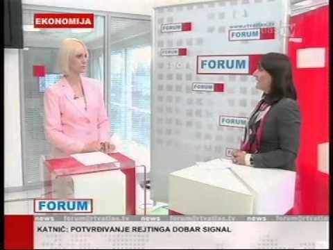 Direktorka korporativnih komunikacija Prve banke CG, Jelena Pavicevic, RTV Atlas, 01.06.2012. godine