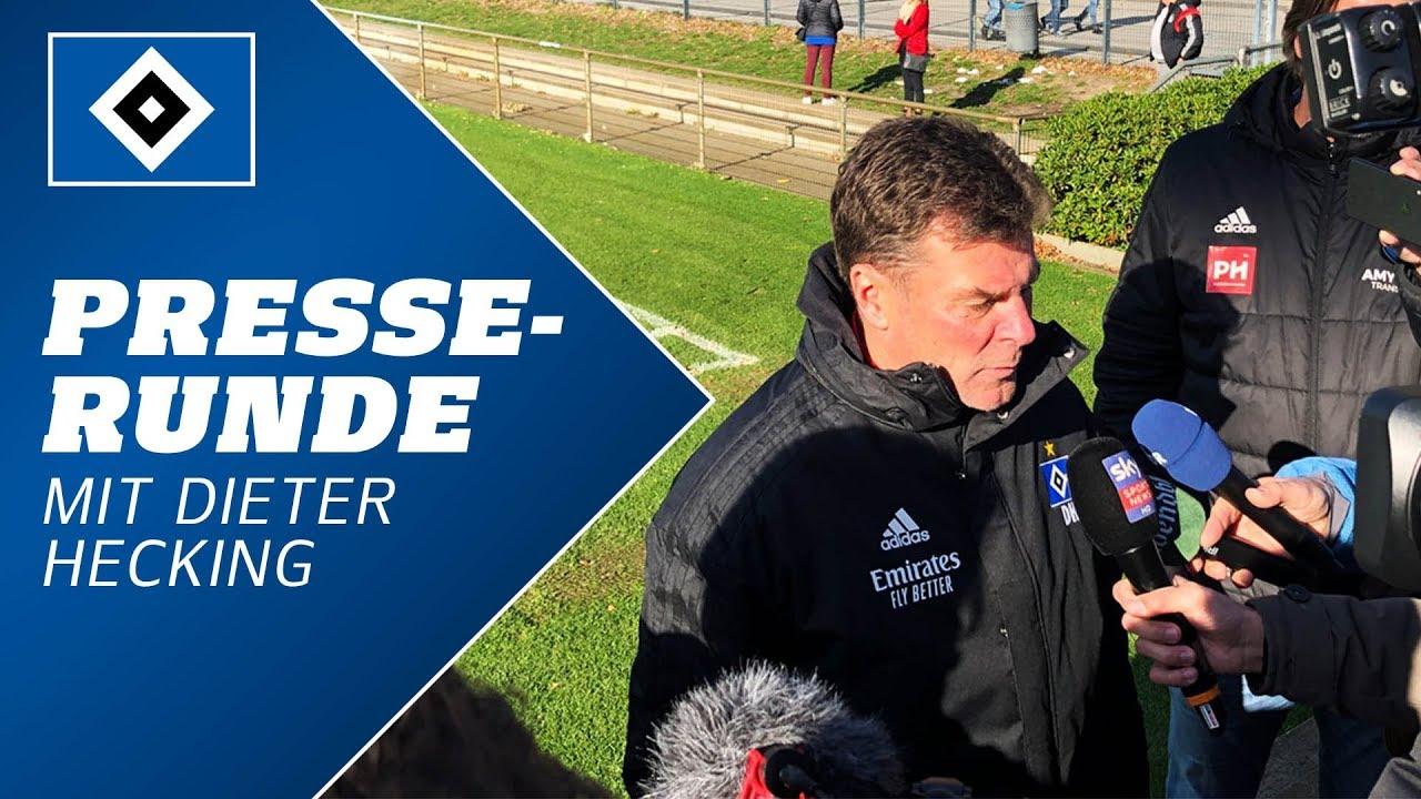 Presserunde nach dem Pokalspiel gegen Stuttgart