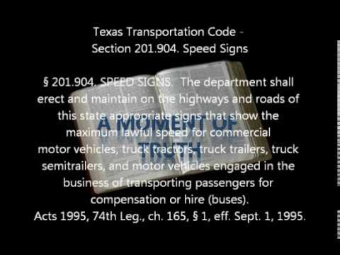 Texas Statute on Speeding