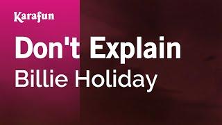 Скачать Karaoke Don T Explain Billie Holiday