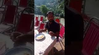 Quaid e Talba Ch Amjad Hussain Jutt at Sharda Neelam Valley during Breakfast