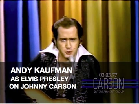 Andy Kaufman Impersonates Elvis Presley and Foreign Man on Johnny Carson's Tonight Show