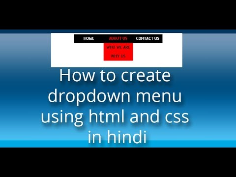 how to create submenu in html using css