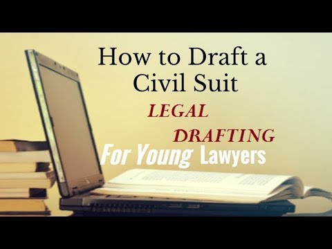 How to draft a Civil Suit in India | Legal Education | Legal Drafting
