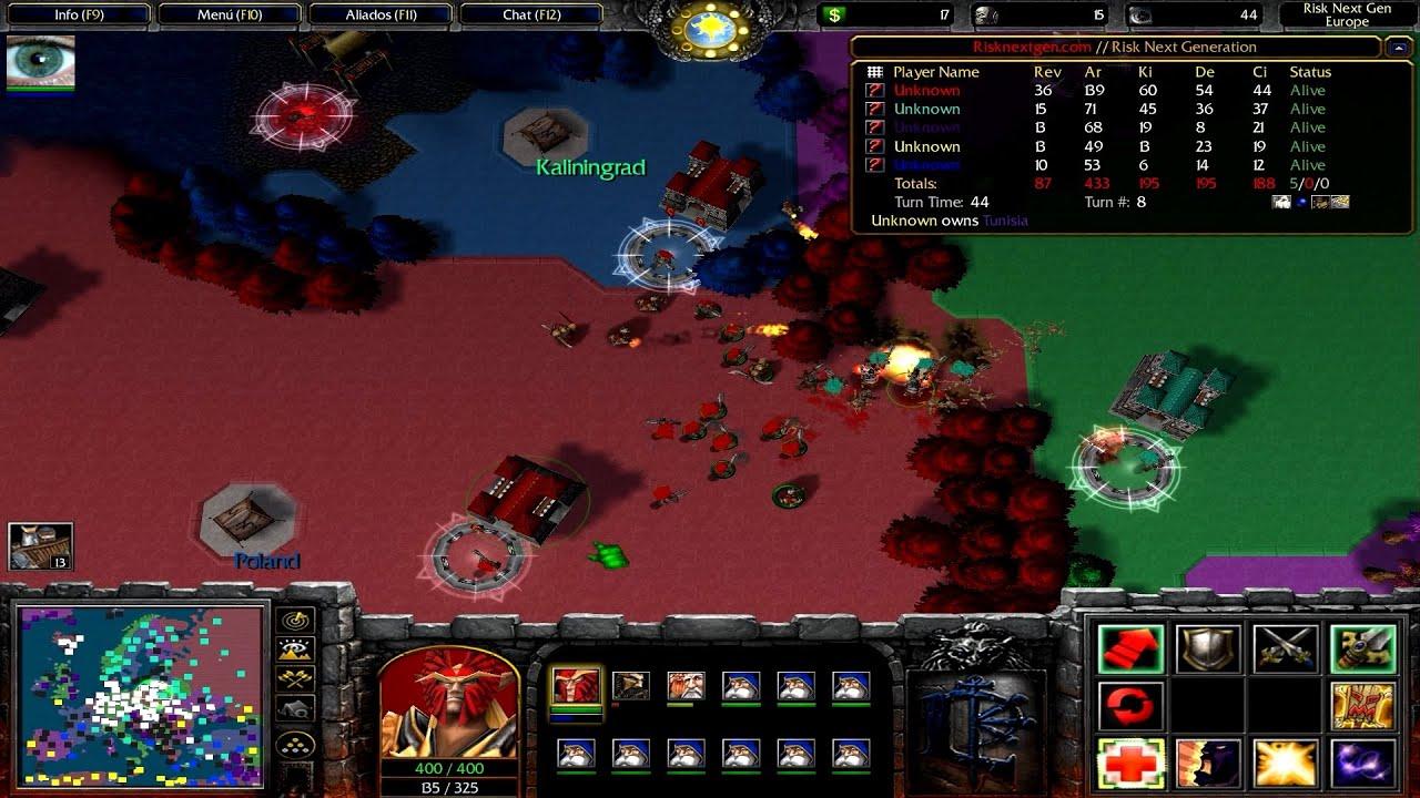 """Warcraft III - 52ª Partida - RISK DEVO REBORN: """"ERIK EL ROJO"""""""