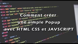 coursaline.com: Créer une simple Popup avec HTML, CSS et JAVASCRIPT