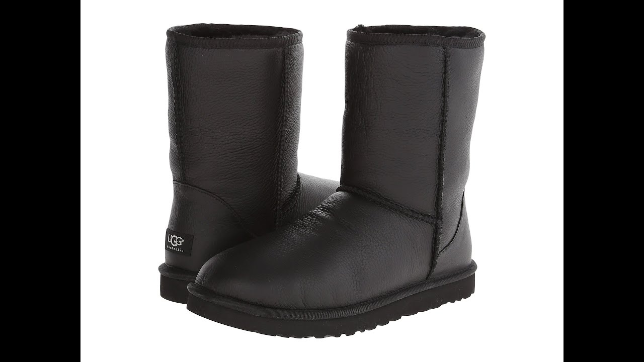 black metallic uggs