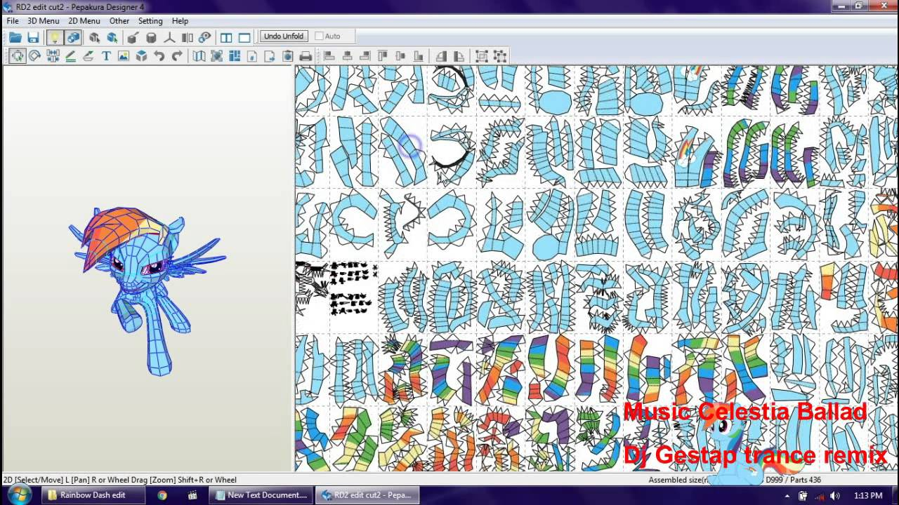 Papercraft Papercraft My Little Pony Rainbow Dash
