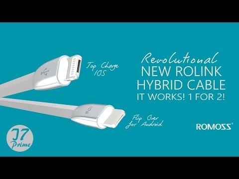 Romoss Rolink Hybrid cable review - مراجعة كيبل روموس المزدوج