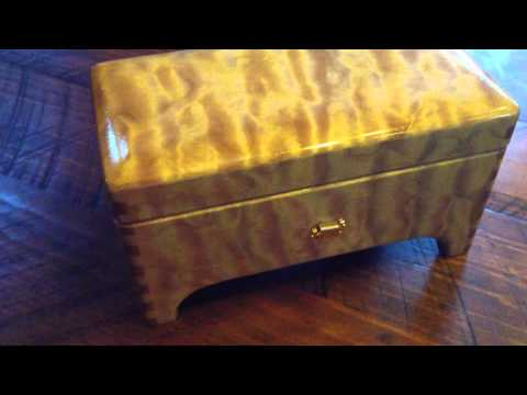 Nicks First Granddaughters Quilted Maple 50 Note Sankyo Music Box