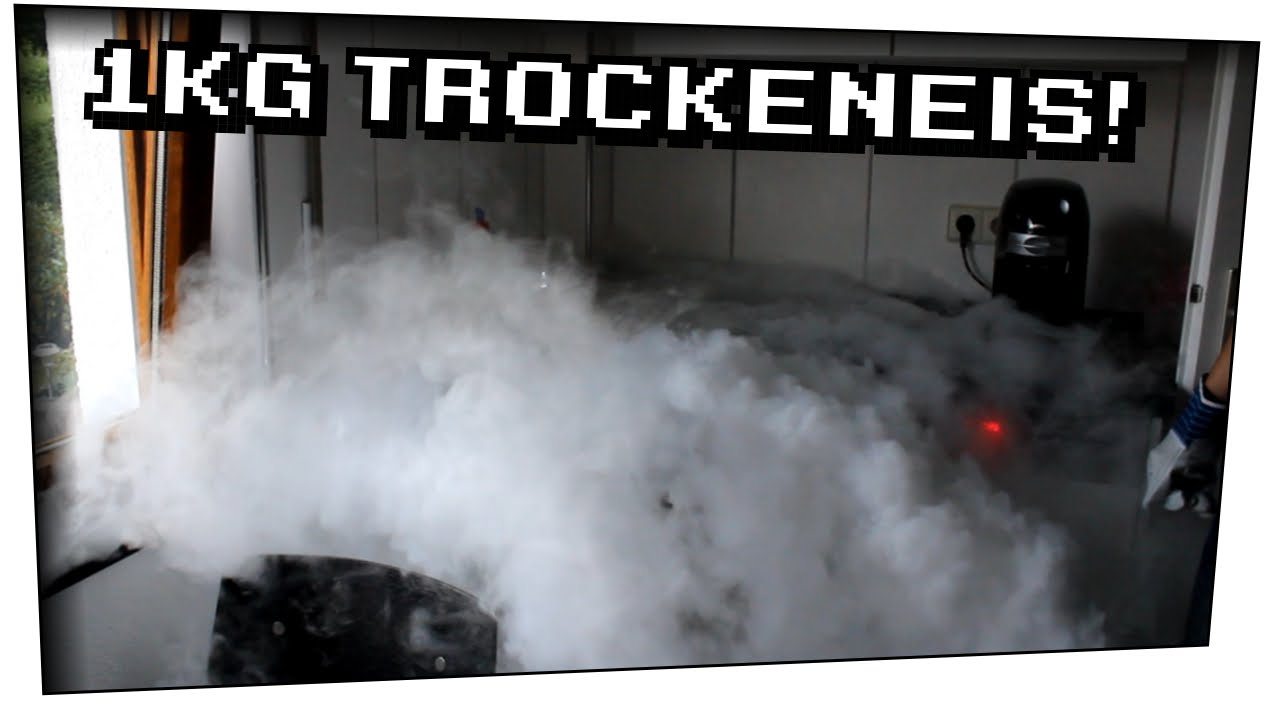 1 Kg Trockeneis in Spülbecken! Getränkekühlung mit Trockeneis ...