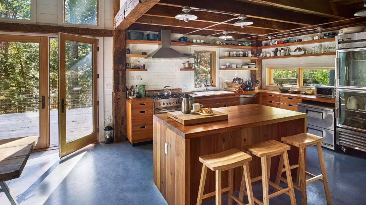 20+ Modern Rustic Kitchen Design Ideas - YouTube