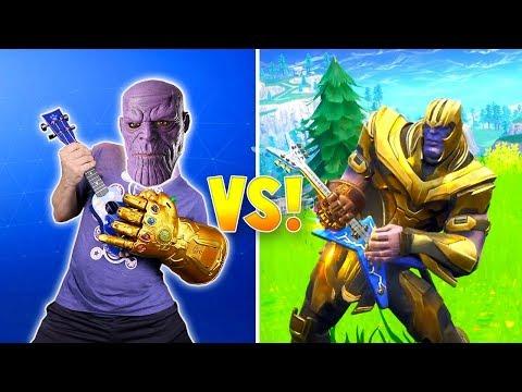 THANOS Rocks! Avengers Fortnite Dance Challenge In Real Life!