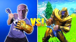 THANOS Rocks! Avengers Fortnite Dance Challenge In Real Life!