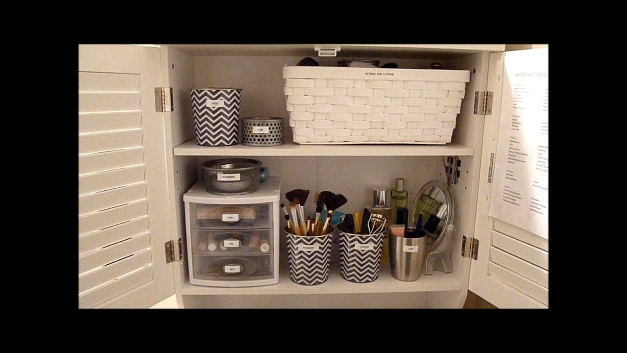 Budget makeup organization how to organize your bathroom - Astuce rangement maquillage salle de bain ...
