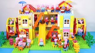 Peppa Pig Lego House Creations Toys - Lego House With Water Slide Toys For Kids #12