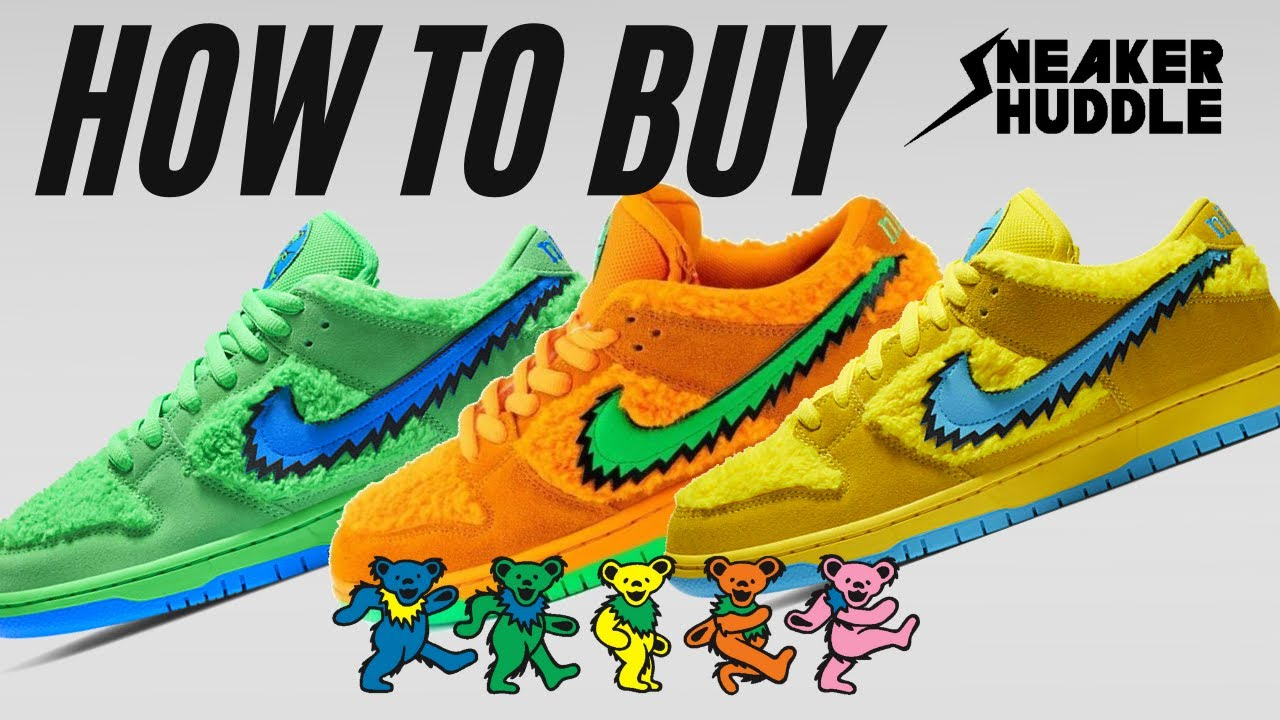 "Grateful Dead x Nike SB Dunk Low ""Green"" ""Orange"" Yellow"" 