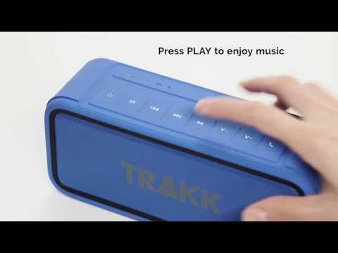How to Use TRAKK GO 20W Weatherproof Rugged Bluetooth Speaker and Power Bank