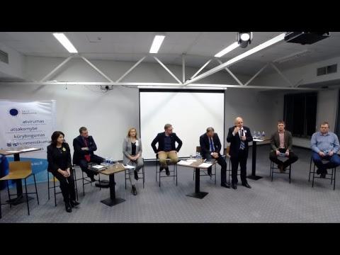 Diskusija su kandidatais į Šiaulių m. sav. Tarybos narius ir mero postą