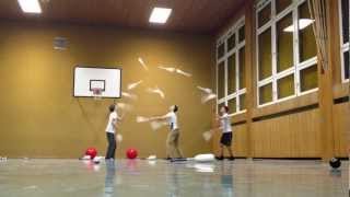 3 person - 15 club passing world record