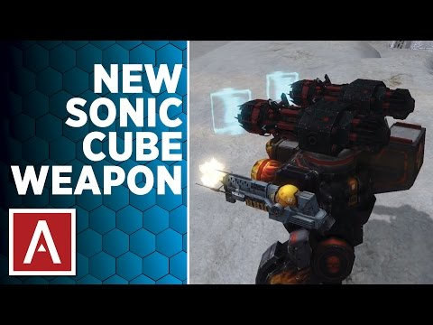 War Robots Test Server [2.9] Gameplay - Sonic Cube Weapon Review