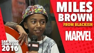 Miles Brown from Blackish on Marvel LIVE! at San Diego Comic-Con 2016