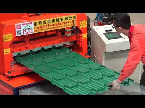 Powerful bull style glazed tile color steel roll forming machine