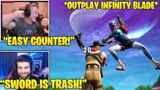 TFUE & SypherPK Shows *GOD-Tier Strats* To OUTPLAY Infinity Blade! (Fortnite FUNNY & Daily Moments)