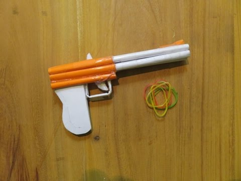 How to Make a Paper Gun Semi Automatic Handguns - GTa Weapon