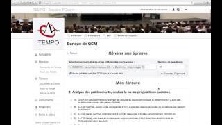 TUTORAT BANQUE DE QCM EN LIGNE - TUTORAT PO - TEMPO