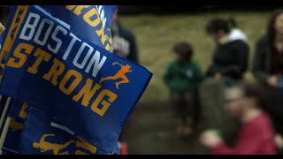 Cold, rain can't keep crowds away at Boston Marathon