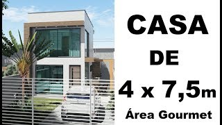 CASA DE 4 x 7,5 metros - AREA GOURMET