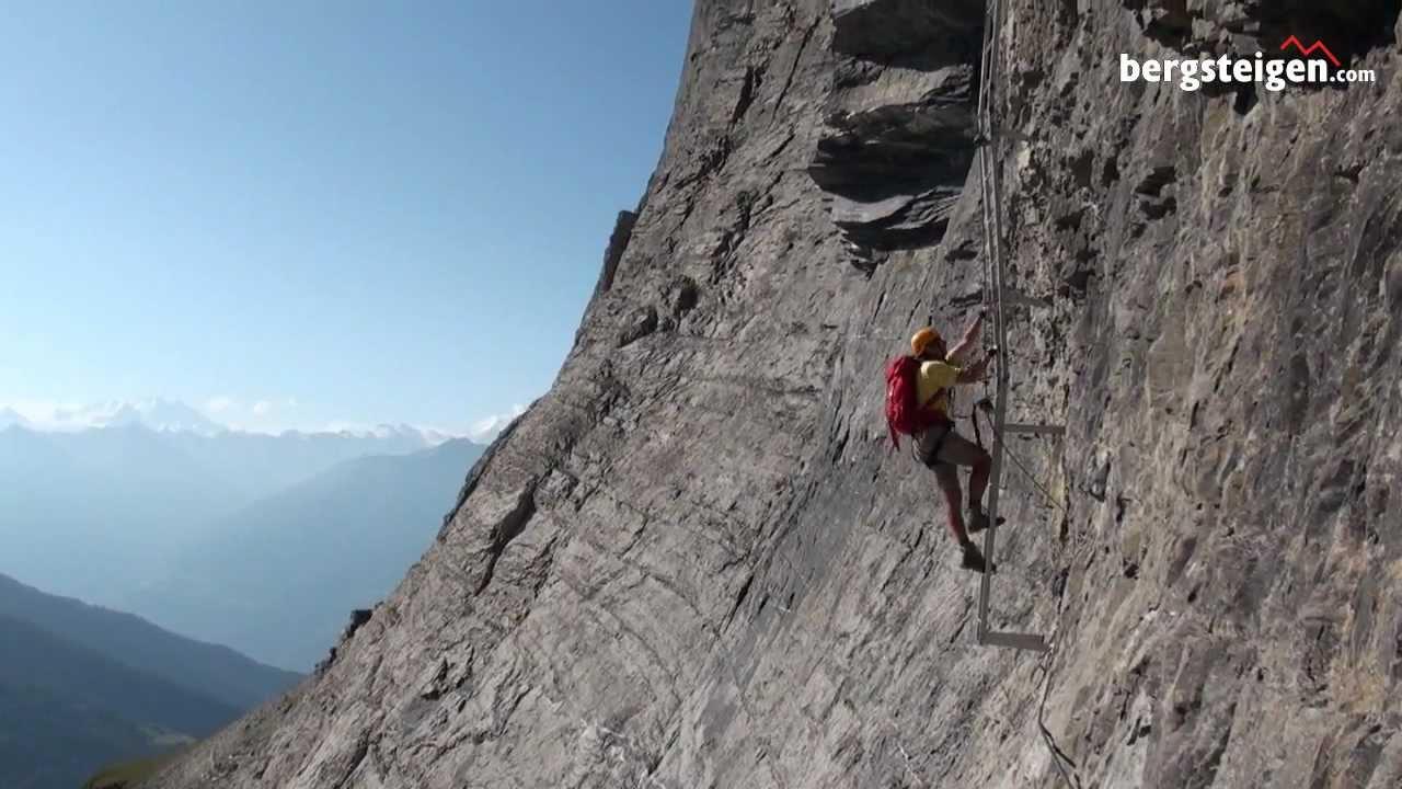 Klettersteig Ostschweiz : Klettersteige schweiz youtube