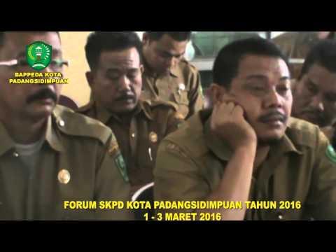 Forum SKPD Pemerintah Kota Padangsidimpuan Tahun 2016