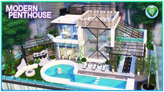 My First Penthouse Is Here! 😍  [No CC] - Sims 4 Speed Build   Kate Emerald
